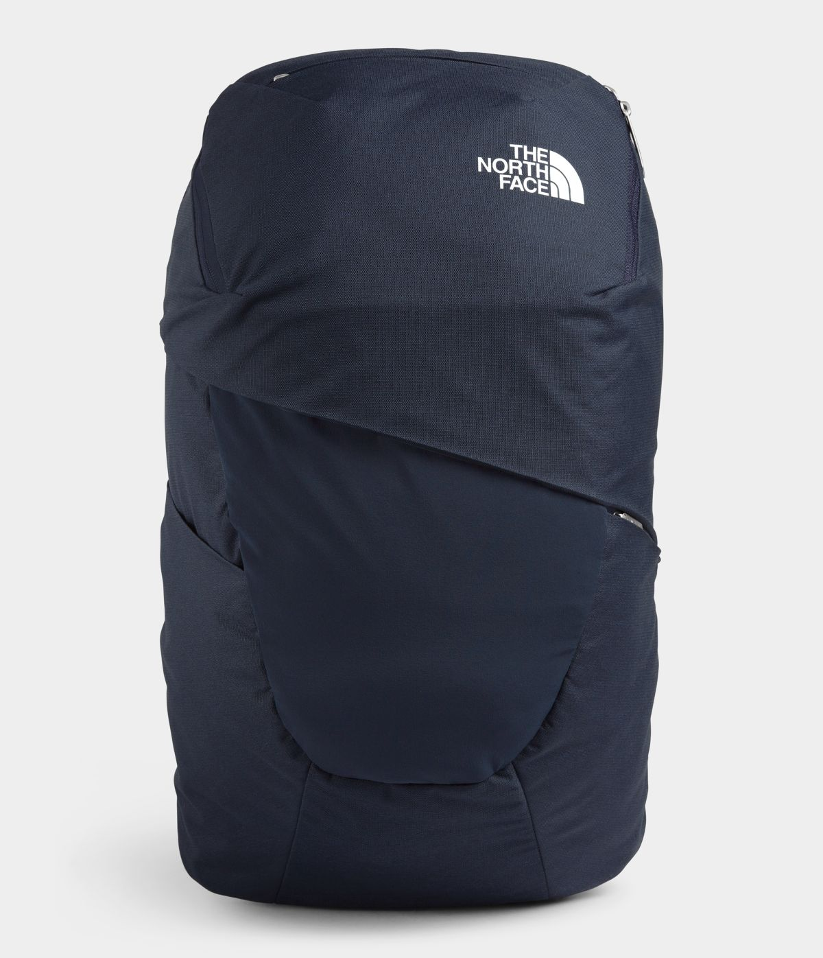 Women's The North Face Aurora Backpack in Aviator Navy Light Heather/TNF White from front view