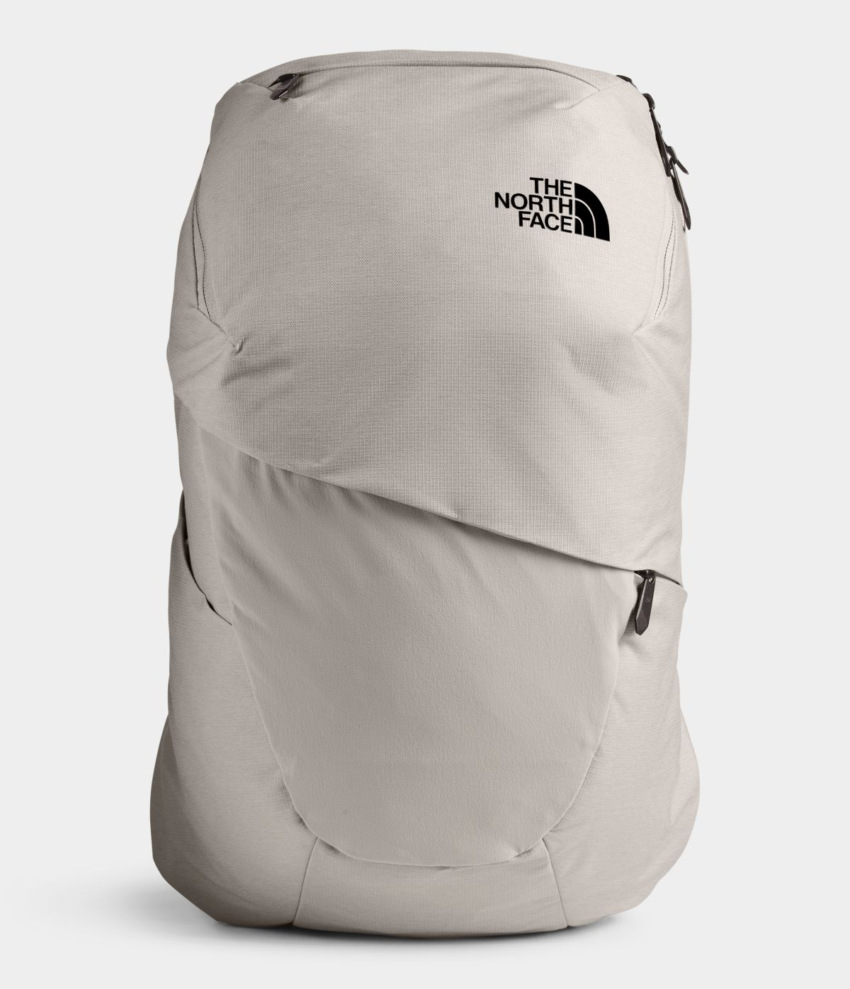 Women's The North Face Aurora Backpack in Dove Grey Dark Heather/Crockery Beige from front view