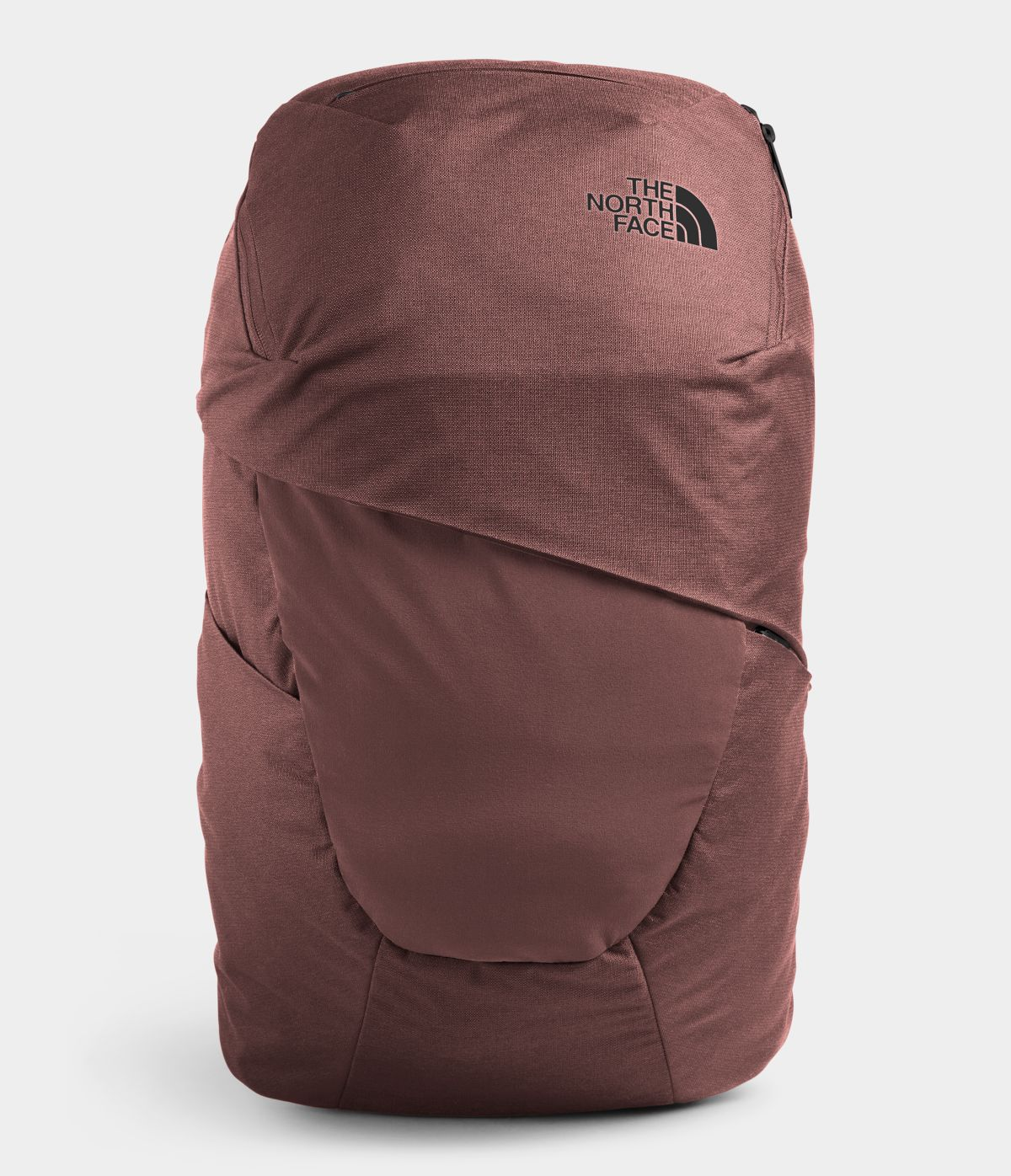 Women's The North Face Aurora Backpack in Marron Purple Dark Heather/TNF Black from front view