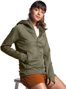 Women's The North Face Canyonlands Hoodie  in Burnt Olive Green