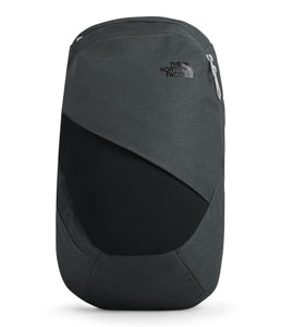 Women's The North Face Electra Commuter Backpack in Asphalt Grey Light Heather/TNF Black from front view
