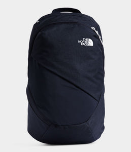 Women's The North Face Electra Commuter Backpack in Aviator Navy Light Heather/TNF White from front view