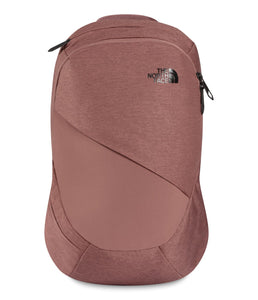 Women's The North Face Electra Commuter Backpack in Marron Purple Dark Heather/TNF Black from front view