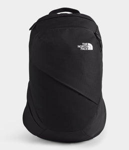 Women's The North Face Electra Commuter Backpack in TNF Black Heather/TNF White from front view