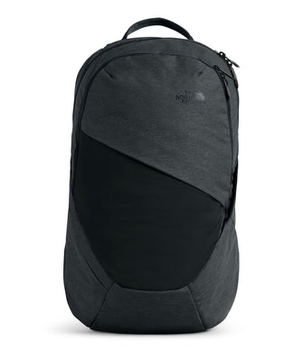 Women's The North Face Isabella Backpack in Asphalt Grey Light Heather/TNF Black from front view