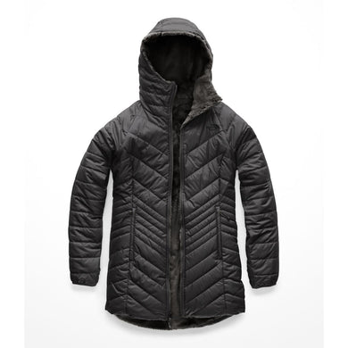 Women's The North Face Mossbud Insulated Reversible Parka in Asphalt Grey