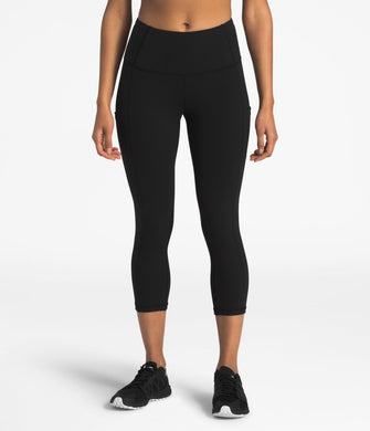 Women's The North Face Motivation High-Rise Pocket Crop  in TNF Black
