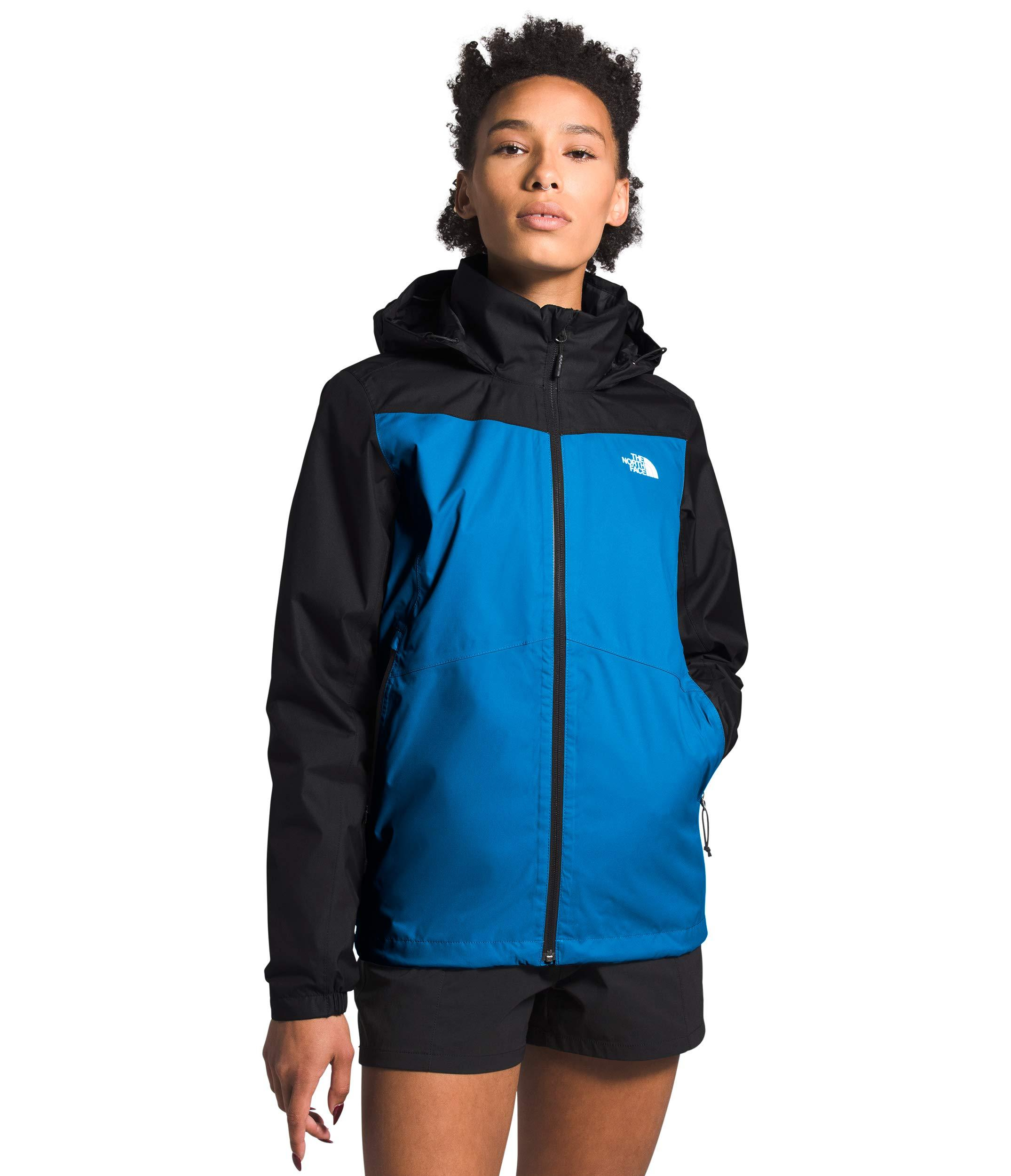 Women's The North Face Resolve Plus Jacket  in Clear Lake Blue/TNF Black