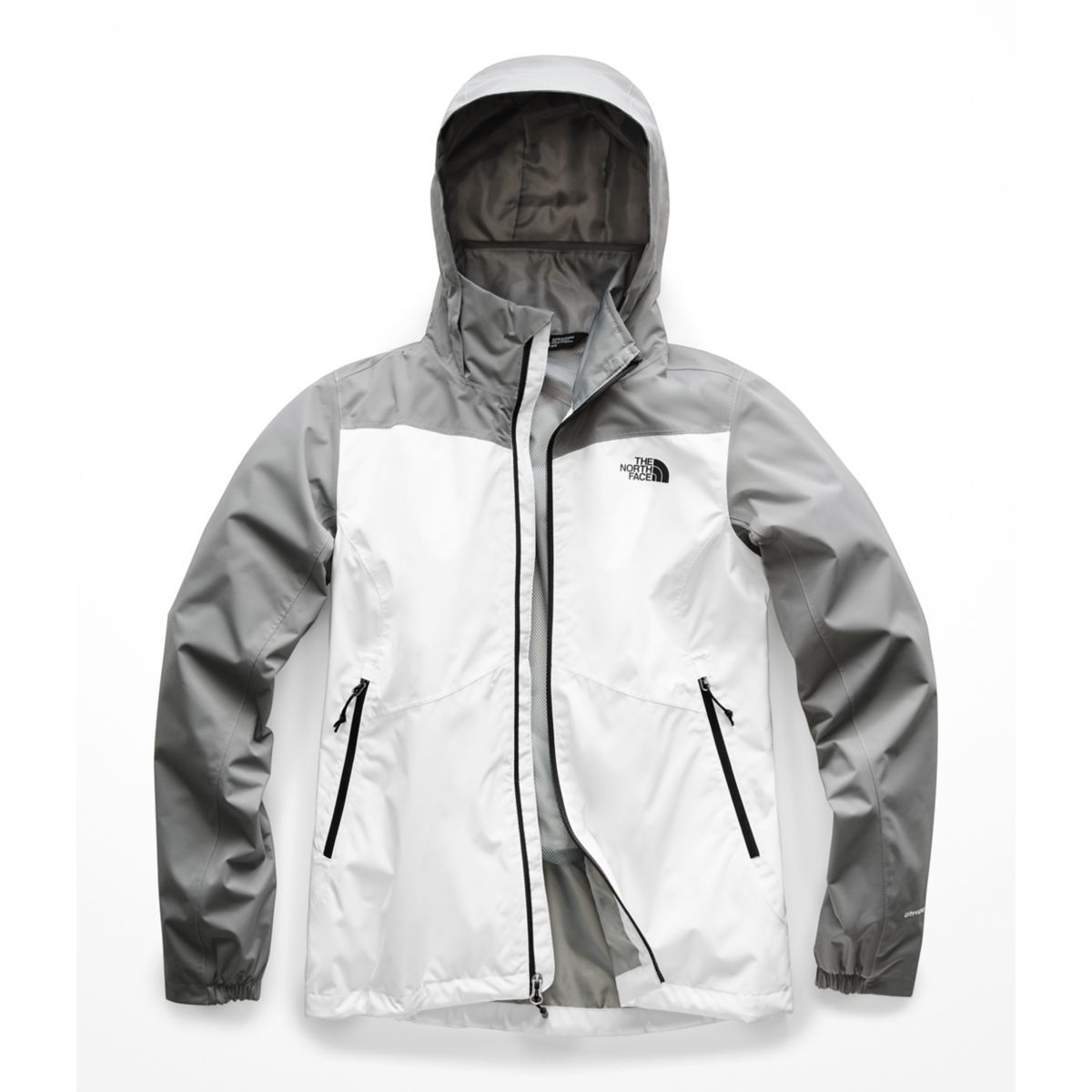Women's The North Face Resolve Plus Jacket  in TNF White/Mid Grey Dobby