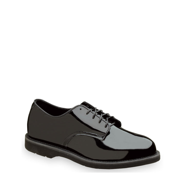 Thorogood 531-6303 Women's Poromeric Oxford Shoe in Black from the side