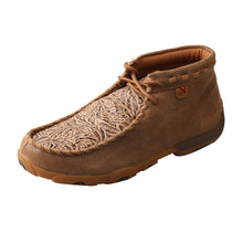 Load image into Gallery viewer, Women's Twisted X Chukka Driving Moccasins Shoe in Bomber & Nude Print from the side view