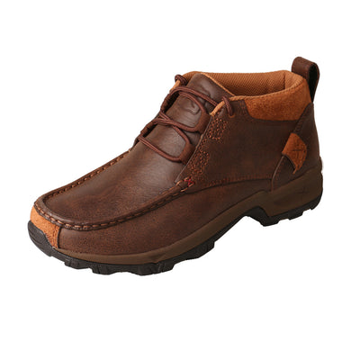 Women's Twisted X Chukka Hiker Boot in Brown from the side view
