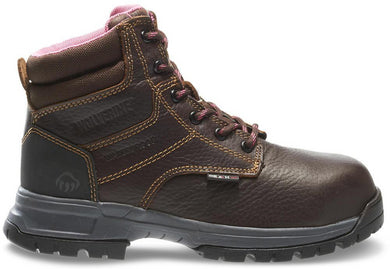 Women's Wolverine Piper Waterproof Composite Toe 6 Work Boot in Brown