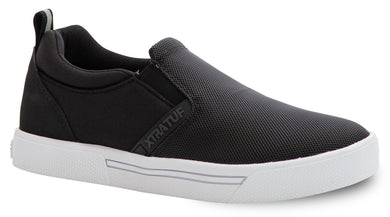 Women's Xtratuf Topwater Deck Shoe in Black  from the side