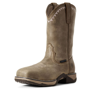 Women's Ariat Anthem Deco Composite Toe Work Boot in Brown Bomber