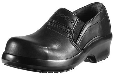 Womens Ariat Expert Safety Clog SD Composite Toe Work Shoe in Black from the front