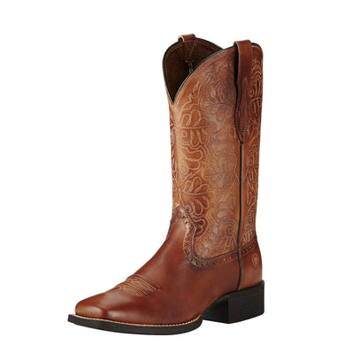 Womens Ariat Round Up Remuda Western Boot in Naturally Rich from the front