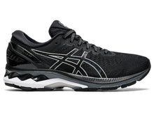 Load image into Gallery viewer, Women's Asics GEL-Kayano 27 Running Shoe in Black/Pure Silver from the side