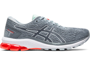 Women's Asics GT-1000 9 Running Shoe in Piedmont Grey/Metropolis from the side