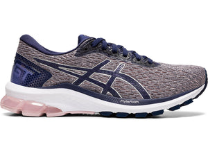 Women's Asics GT-1000 9 Running Shoe in Watershed Rose/Peacoat from the side