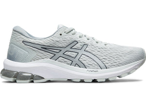 Women's Asics GT-1000 9 Running Shoe in White/Pure Silver from the side