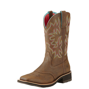 Women's Delilah Western Boot in Toasted Brown from the side
