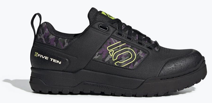 Women's Five Ten Impact Pro Biking Shoe in Black/Semi Solar Yellow/Night Cargo from the side