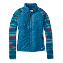 Load image into Gallery viewer, Women's Smartwool Smartloft 60 Jacket in Deep Marlin from the front