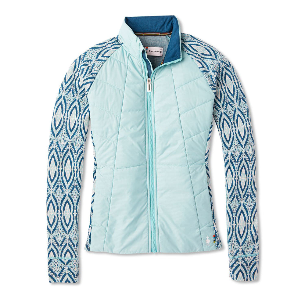 Women's Smartwool Smartloft 60 Jacket in Nile Blue from the front