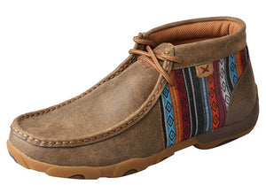 Women's Twisted X Chukka Driving Moccasins Shoe in Bomber & Multi from the front