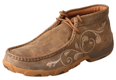 Women's Twisted X Chukka Driving Moccasins Shoe in Bomber from the front