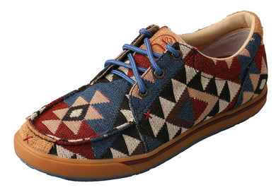 Women's Twisted X Hooey Loper Casual Shoe in Graphic Pattern Canvas from the front