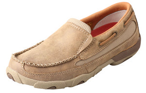 Womens Twisted X Slip-On Driving Moccasins Shoe in Bomber from the front