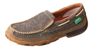 Womens Twisted X Slip-On Driving Moccasins Shoe in Dust from the front