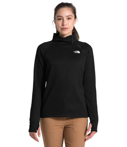 Women's The North Face Canyonlands 1/4 Zip Jacket in TNF Black from the front