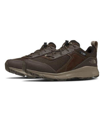 Youth The North Face Jr Hedgehog Hiker II WP Hiking Shoe in Coffee Brown/New Taupe Green from the side