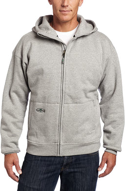Men's Arborwear Double Thick Full Zip Sweatshirt in Athletic Grey