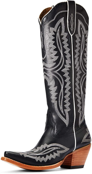 Women's ARIAT Casanova Western Boot in True Black color from the side view