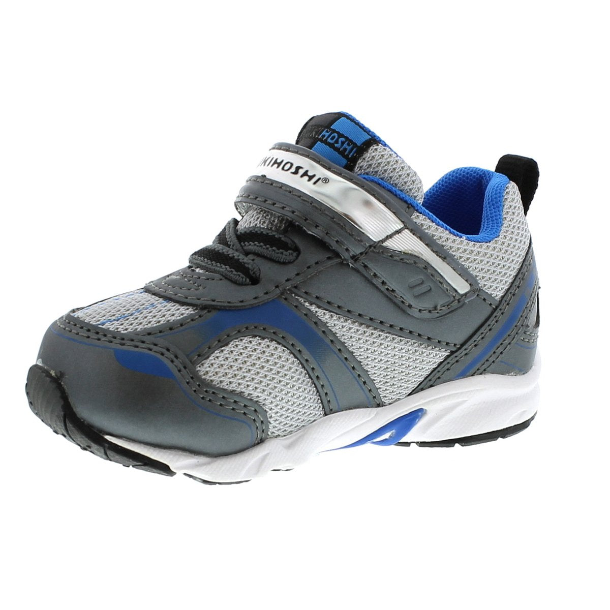 Baby Tsukihoshi Sport Sneaker in Graphite/Royal from the front view