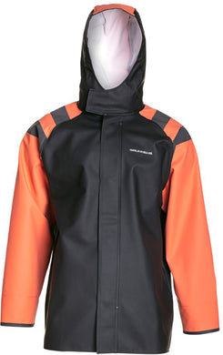 Balder Jacket 302 in Orange color from the front view