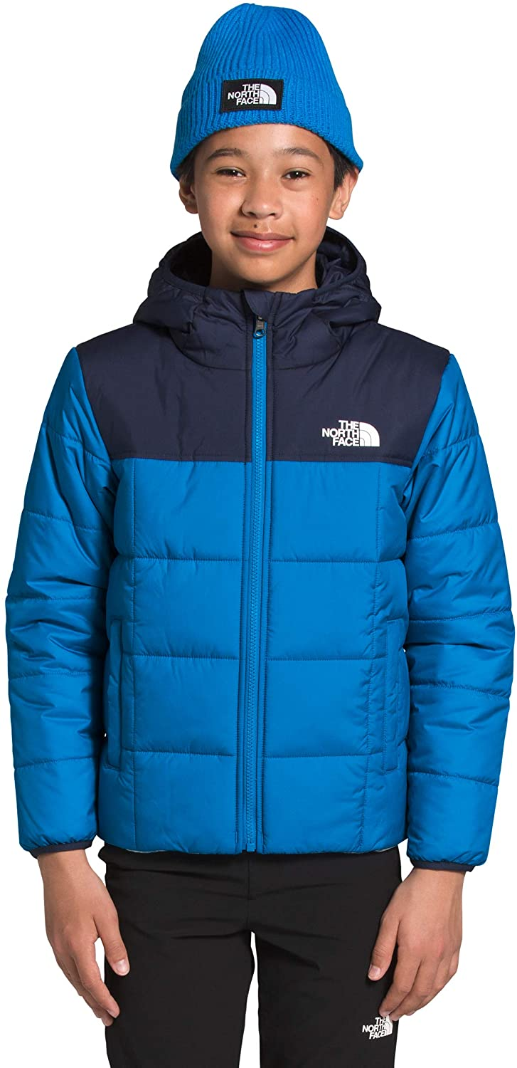 Boys' The North Face Reversile Perrito Jacket in Clear Lake Blue from the front