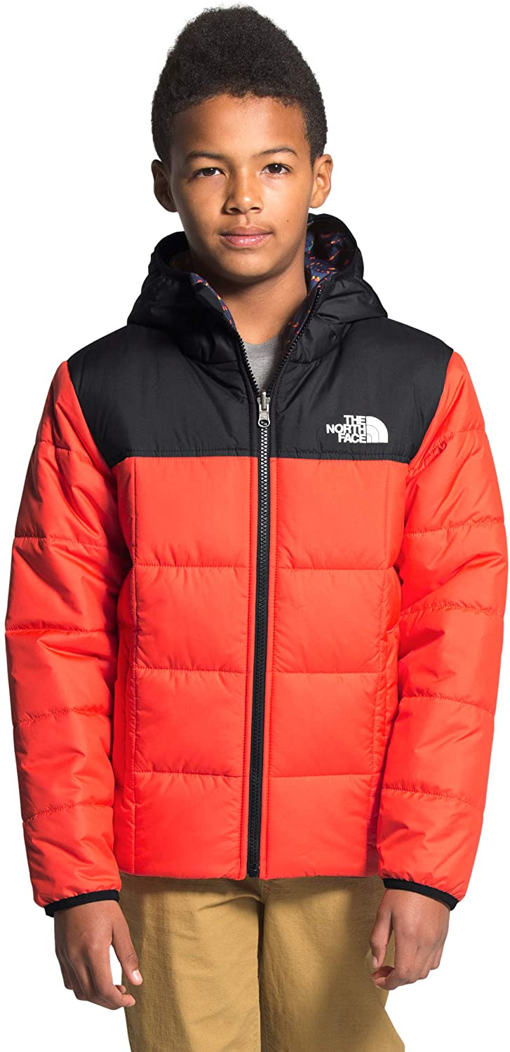 Boys' The North Face Reversile Perrito Jacket in Flare from the front