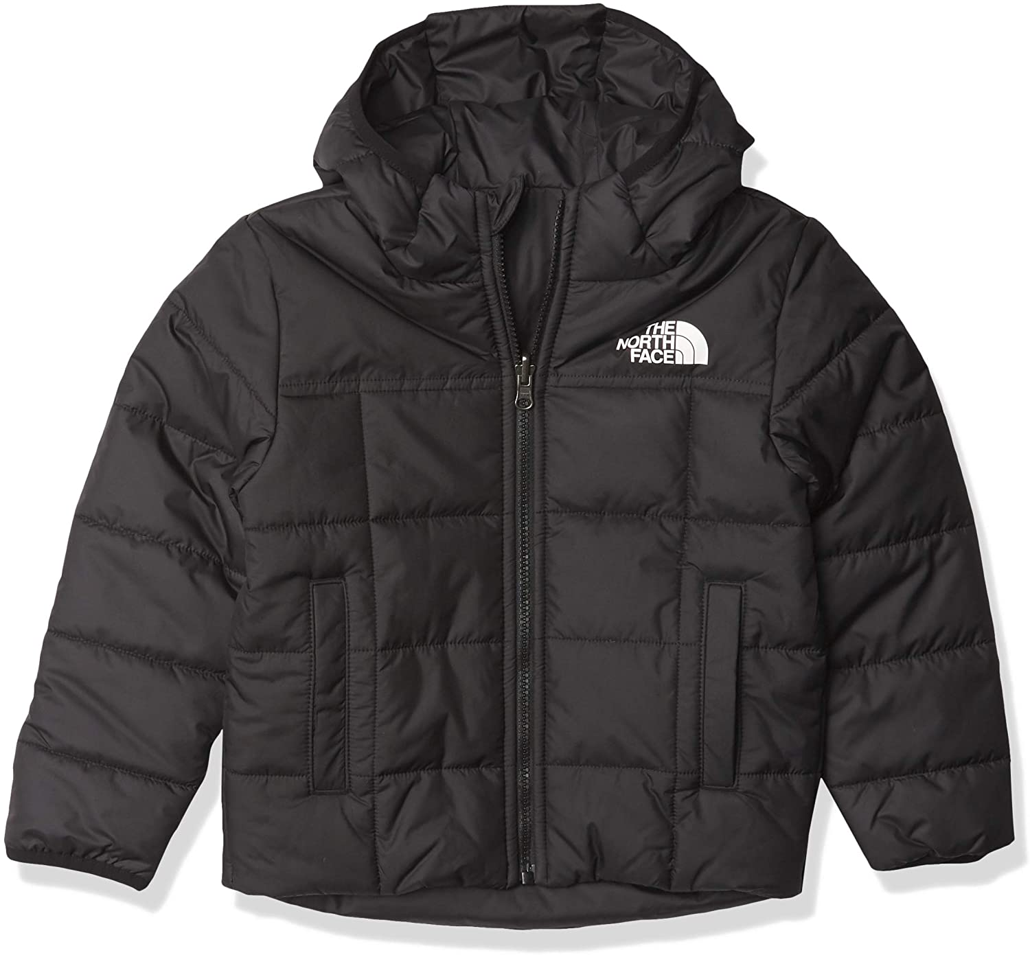 Boys' The North Face Reversile Perrito Jacket in TNF Black from the front
