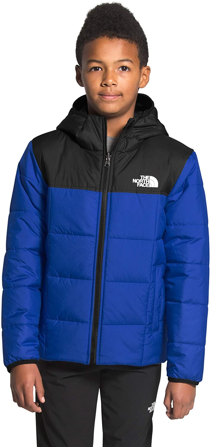 Boys' The North Face Reversile Perrito Jacket in TNF Blue from the front