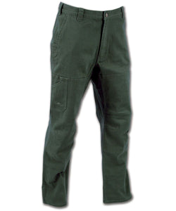 Cedar Flex Pants in Moss color from the front view