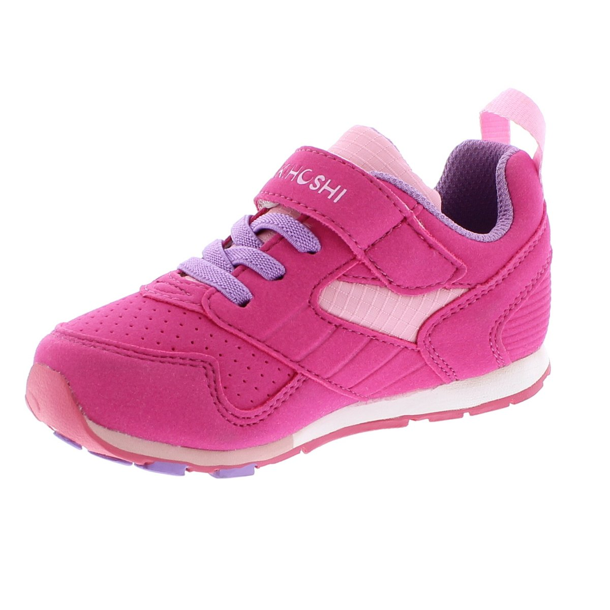 Child Tsukihoshi Racer Sneaker in Fuchsia/Pink from the front view