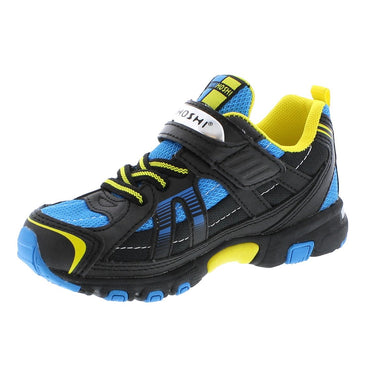 Child Tsukihoshi Storm Sneaker in Black/Blue from the front view