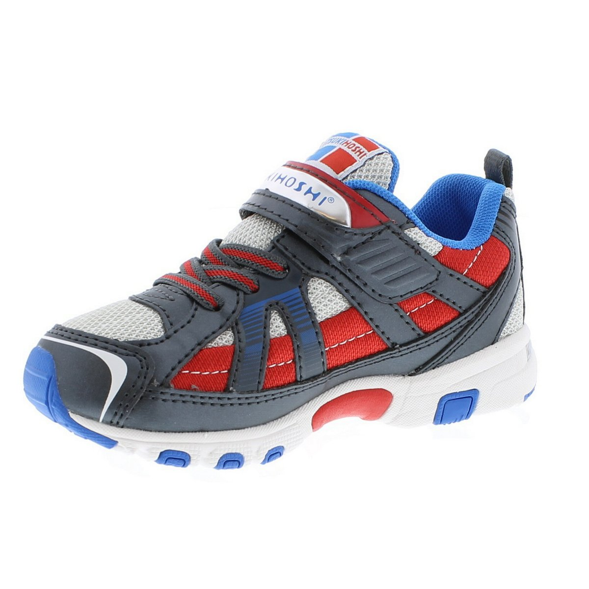 Child Tsukihoshi Storm Sneaker in Red/Gray from the front view