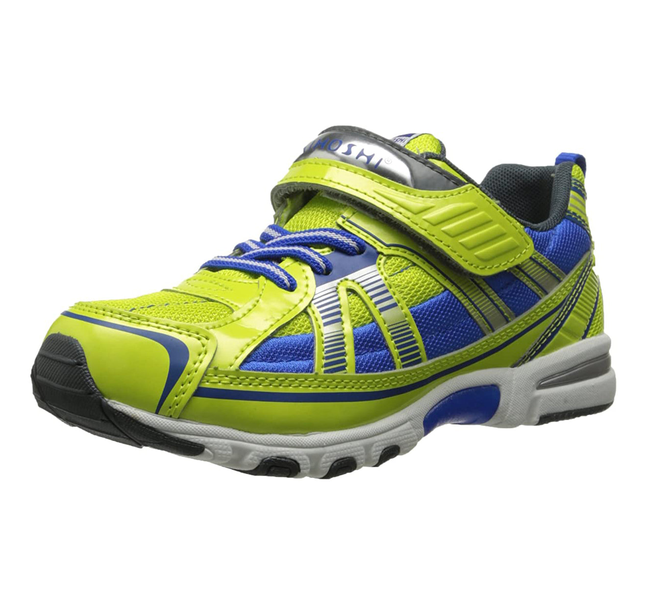 Child Tsukihoshi Storm Sneaker in Lime/Blue from the front view