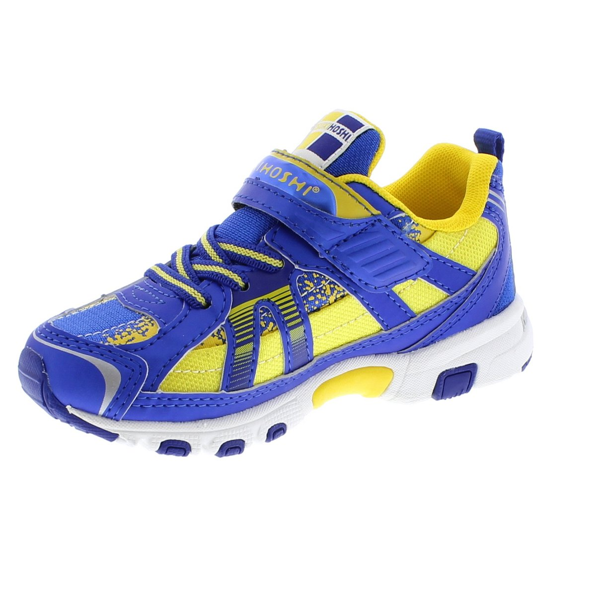 Child Tsukihoshi Storm Sneaker in Royal/Gold from the front view